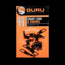 Вертлюг с карабином Guru Swivel Snap Link Size 11