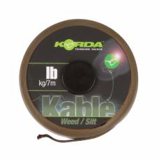 Лидкор Korda Kable Leadcore Weed Silt 7м 50lb