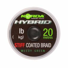 Плетеный шоклидер Korda Hybrid Stiff Gravel Brown 20lb 20м