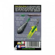 Трубка силиконовая Korda Silicone Sleeves Green 3mm для защиты вертлюга